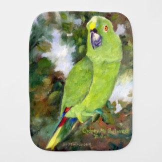 Cydney Yellow Naped Parrot Baby Burp Cloth