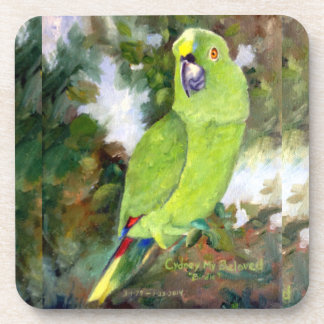 Cydney Yellow Naped Parrot Beverage Coaster