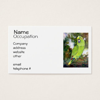 Cydney Yellow Naped Parrot Business Card