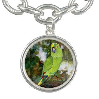 Cydney Yellow Naped Parrot Charm Bracelet