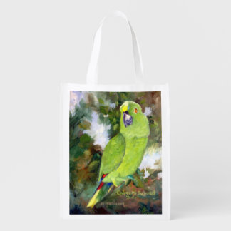 Cydney Yellow Naped Parrot Grocery Bags