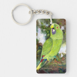 Cydney Yellow Naped Parrot Rectangle Acrylic Key Chains