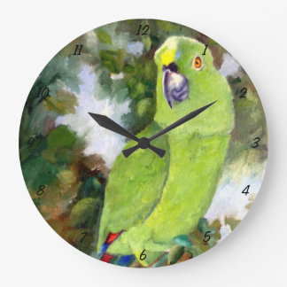 Cydney Yellow Naped Parrot Large Clock