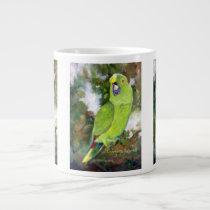 Cydney Yellow Naped Parrot Large Coffee Mug