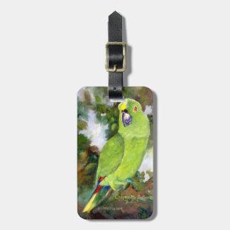 Cydney Yellow Naped Parrot Travel Bag Tag