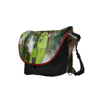 Cydney Yellow Naped Parrot Messenger Bags