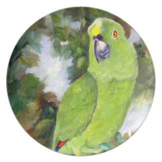 Cydney Yellow Naped Parrot Plate