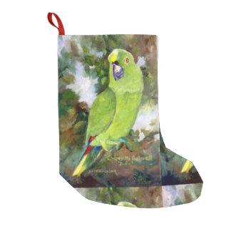 Cydney Yellow Naped Parrot Small Christmas Stocking
