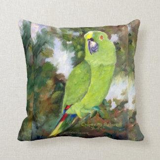 Cydney Yellow Naped Parrot Throw Pillow
