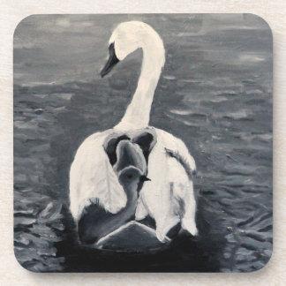 Cygnet swan drink coaster