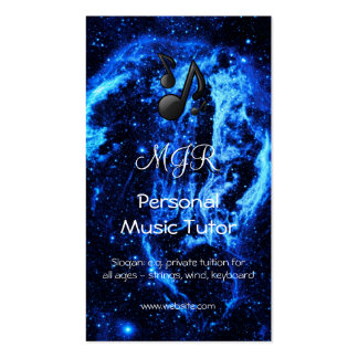 Cygnus Loop Nebula Out of This World Music Tutor Double-Sided Standard Business Cards (Pack Of 100)