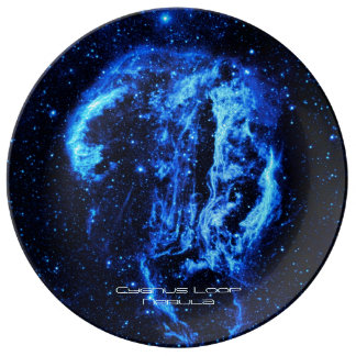 Cygnus Loop Nebula outer space picture Dinner Plate
