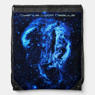 Cygnus Loop Nebula outer space picture Drawstring Bag
