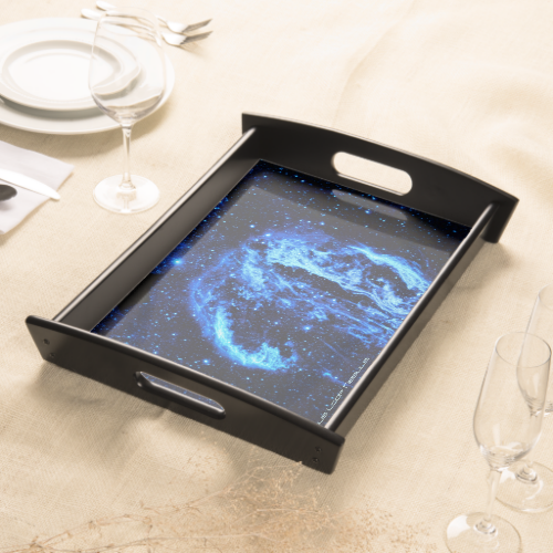 Cygnus Loop Nebula outer space picture Serving Tray