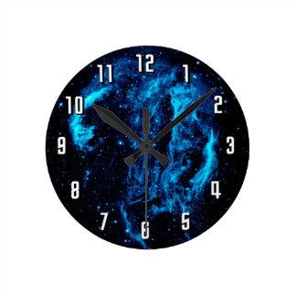 Cygnus Loop Nebula Supernova Remnant NASA Photo Round Clock