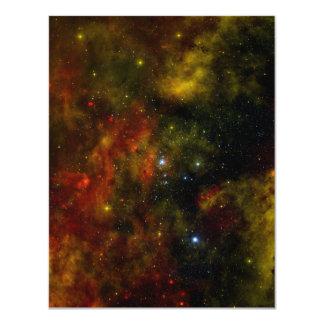 "Cygnus OB2 Star Cluster 4.25"" X 5.5"" Invitation Card"
