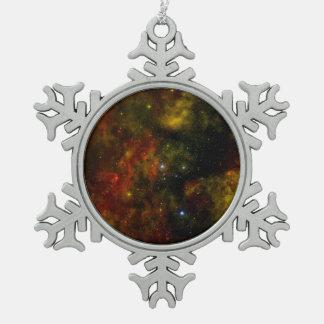 Cygnus OB2 Star Cluster Snowflake Pewter Christmas Ornament