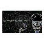 Cygnus X-1  robot logo black T's & bit's Post Cards