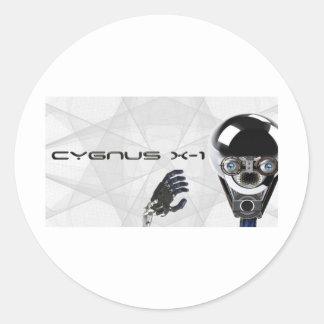 Cygnus X-1  robot logo T's & bit's Round Sticker