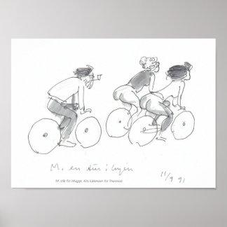 """""""Cykel og piger"""" by Thormod Kidde Poster"""