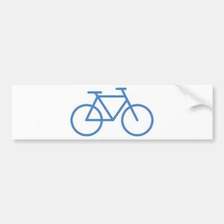 cylce azul de la bicicleta del icono de la bici pegatina de parachoque