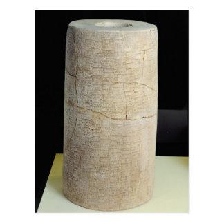 Cylinder B with a votive inscription Postcard