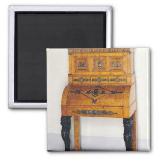 Cylinder front writing desk magnet