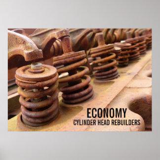 Cylinder Head Rebuilders Rusty Engine Block Photo Posters