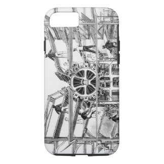 Cylinder printing press invented by Richard March iPhone 7 Case