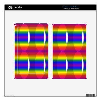 CYLINDER RAINBOW OPTICAL ILLUSIONS DIGITAL ART BAC SKINS FOR KINDLE FIRE