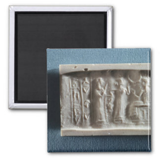 Cylinder seal depicting an evocation to the 2 inch square magnet