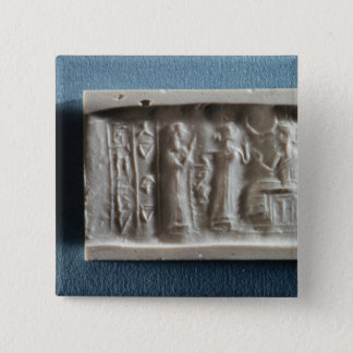 Cylinder seal depicting an evocation to the button