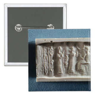 Cylinder seal depicting an evocation to the 2 inch square button