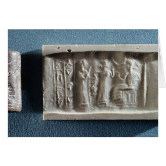 Cylinder seal depicting an evocation to the card