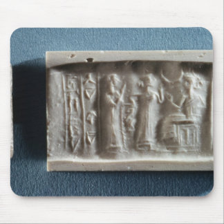 Cylinder seal depicting an evocation to the mouse pad