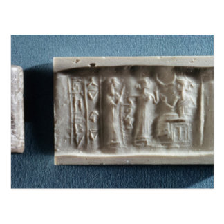 Cylinder seal depicting an evocation to the postcard