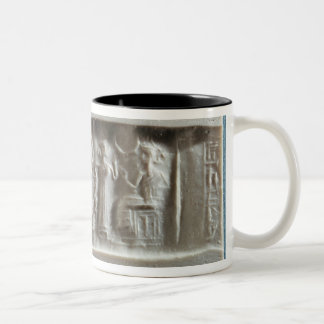 Cylinder seal depicting an evocation to the Two-Tone coffee mug