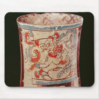 Cylindrical depicting a deity with speech curls mouse pad