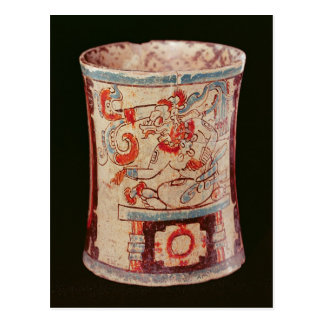 Cylindrical depicting a deity with speech curls postcard