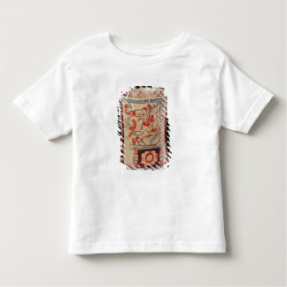 Cylindrical depicting a deity with speech curls toddler t-shirt