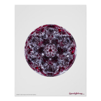 Cymatics: Metatron Cube Brainwave Sound Poster