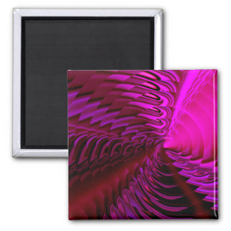 """""""Cymbal"""" (cerise) by Cheryl Daniels 2 Inch Square Magnet"""