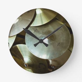Cymbal Chandelier Round Clock