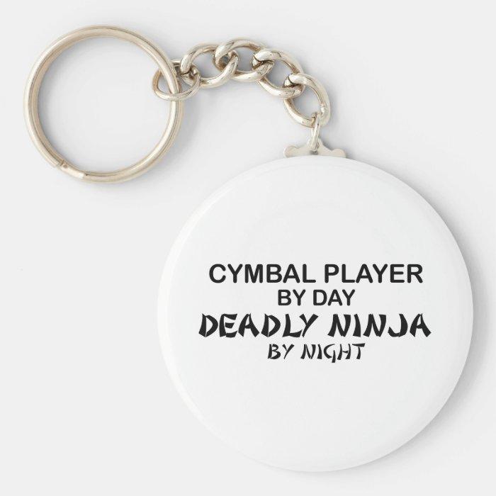 Cymbal Deadly Ninja by Night Keychain