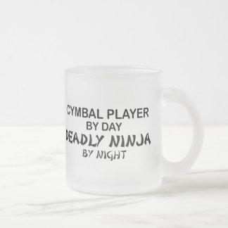 Cymbal Deadly Ninja by Night 10 Oz Frosted Glass Coffee Mug