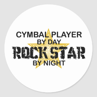 Cymbal Player Rock Star by Night Classic Round Sticker