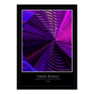 Cymbal Poster (Cerise)