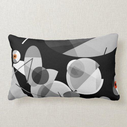 Cymbaline-2 Bold and Musical Abstract Lumbar Pillow