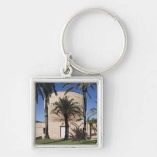 Cymbalista Synagogue Silver-Colored Square Keychain