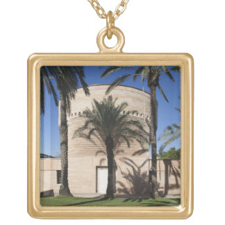 Cymbalista Synagogue Square Pendant Necklace